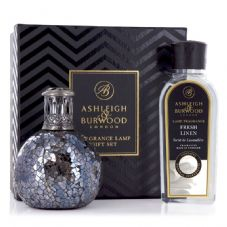 Ashleigh & Burwood Fragrance  Lamp Gift Set - Woodland & Fresh Linen Lamp Oil